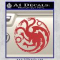 Game Of Thrones Decal Sticker House Targaryen Red 120x120
