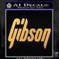 Gibson Guitars Decal Sticker Gold Vinyl 120x120