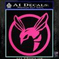 Green Hornet Decal Sticker Pink Hot Vinyl 120x120