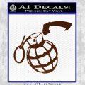 Grenade 3D2 Decal Sticker BROWN Vinyl 120x120