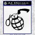 Grenade 3D2 Decal Sticker Black Vinyl 120x120