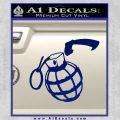 Grenade 3D2 Decal Sticker Blue Vinyl 120x120