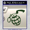 Grenade 3D2 Decal Sticker Dark Green Vinyl 120x120