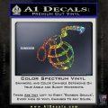 Grenade 3D2 Decal Sticker Glitter Sparkle 120x120