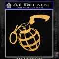 Grenade 3D2 Decal Sticker Gold Vinyl 120x120