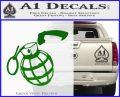 Grenade 3D2 Decal Sticker Green Vinyl Logo 120x97