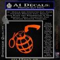 Grenade 3D2 Decal Sticker Orange Emblem 120x120