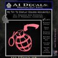 Grenade 3D2 Decal Sticker Pink Emblem 120x120