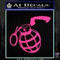 Grenade 3D2 Decal Sticker Pink Hot Vinyl 120x120