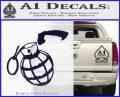 Grenade 3D2 Decal Sticker PurpleEmblem Logo 120x97