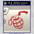 Grenade 3D2 Decal Sticker Red 120x120