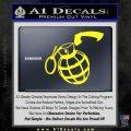 Grenade 3D2 Decal Sticker Yellow Laptop 120x120