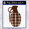 Grenade Decal Sticker BROWN Vinyl 120x120
