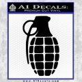 Grenade Decal Sticker Black Vinyl 120x120