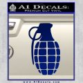 Grenade Decal Sticker Blue Vinyl 120x120