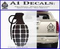 Grenade Decal Sticker Carbon FIber Black Vinyl 120x97