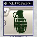 Grenade Decal Sticker Dark Green Vinyl 120x120