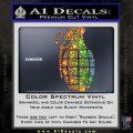 Grenade Decal Sticker Glitter Sparkle 120x120