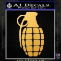 Grenade Decal Sticker Gold Vinyl 120x120