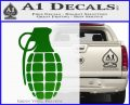 Grenade Decal Sticker Green Vinyl Logo 120x97