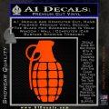 Grenade Decal Sticker Orange Emblem 120x120