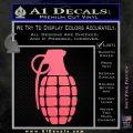 Grenade Decal Sticker Pink Emblem 120x120