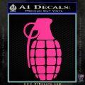 Grenade Decal Sticker Pink Hot Vinyl 120x120