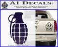 Grenade Decal Sticker PurpleEmblem Logo 120x97