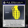 Grenade Decal Sticker Yellow Laptop 120x120