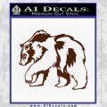 Grizzly Bear Decal Sticker Walking BROWN Vinyl 120x120