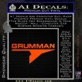 Grumman Decal Sticker Orange Emblem 120x120