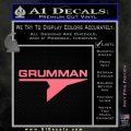 Grumman Decal Sticker Pink Emblem 120x120