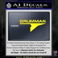 Grumman Decal Sticker Yellow Laptop 120x120