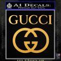 Gucci Full Decal Sticker Gold Vinyl 120x120