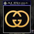 Gucci Logo Decal Sticker Gold Vinyl 120x120
