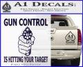 Gun Control Is Hitting Your Target Decal Sticker PurpleEmblem Logo 120x97