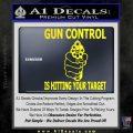 Gun Control Is Hitting Your Target Decal Sticker Yellow Laptop 120x120