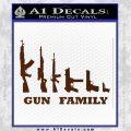 Gun Family Decal Sticker D1 BROWN Vinyl 120x120