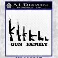 Gun Family Decal Sticker D1 Black Vinyl 120x120