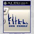 Gun Family Decal Sticker D1 Blue Vinyl 120x120