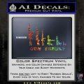 Gun Family Decal Sticker D1 Glitter Sparkle 120x120