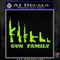 Gun Family Decal Sticker D1 Lime Green Vinyl 120x120