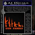 Gun Family Decal Sticker D1 Orange Emblem 120x120
