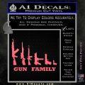 Gun Family Decal Sticker D1 Pink Emblem 120x120