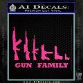 Gun Family Decal Sticker D1 Pink Hot Vinyl 120x120