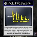 Gun Family Decal Sticker D1 Yellow Laptop 120x120