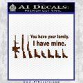 Gun Family Decal Sticker D2 BROWN Vinyl1 120x120