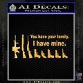 Gun Family Decal Sticker D2 Gold Vinyl1 120x120