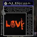 Gun Love Decal Sticker Orange Emblem 120x120