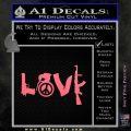 Gun Love Decal Sticker Pink Emblem 120x120